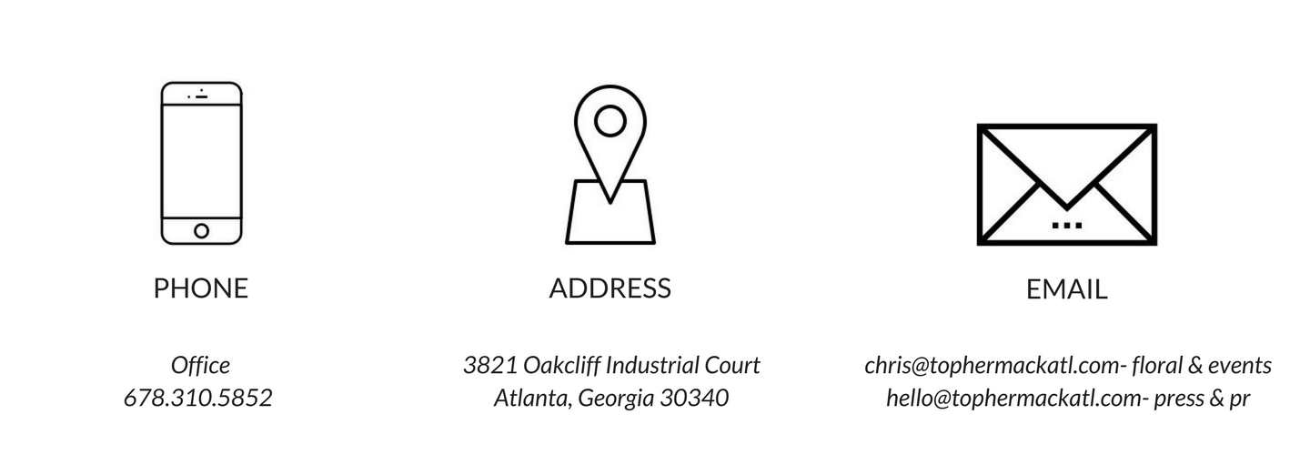 Topher Mack Floral & Events- Atlanta Contact Information