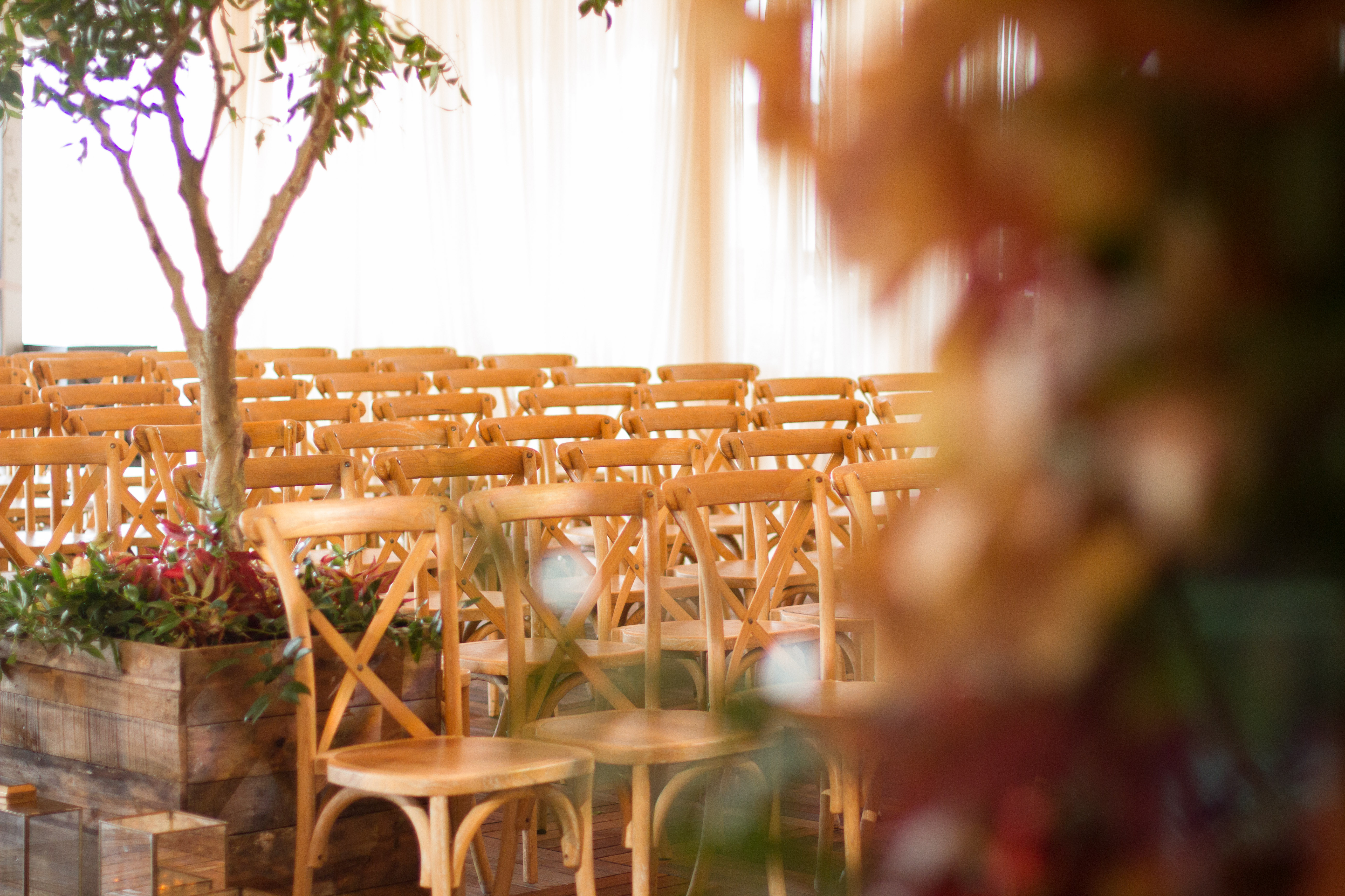 Fall Wedding on Atlanta Rooftop from Topher Mack Floral & Events