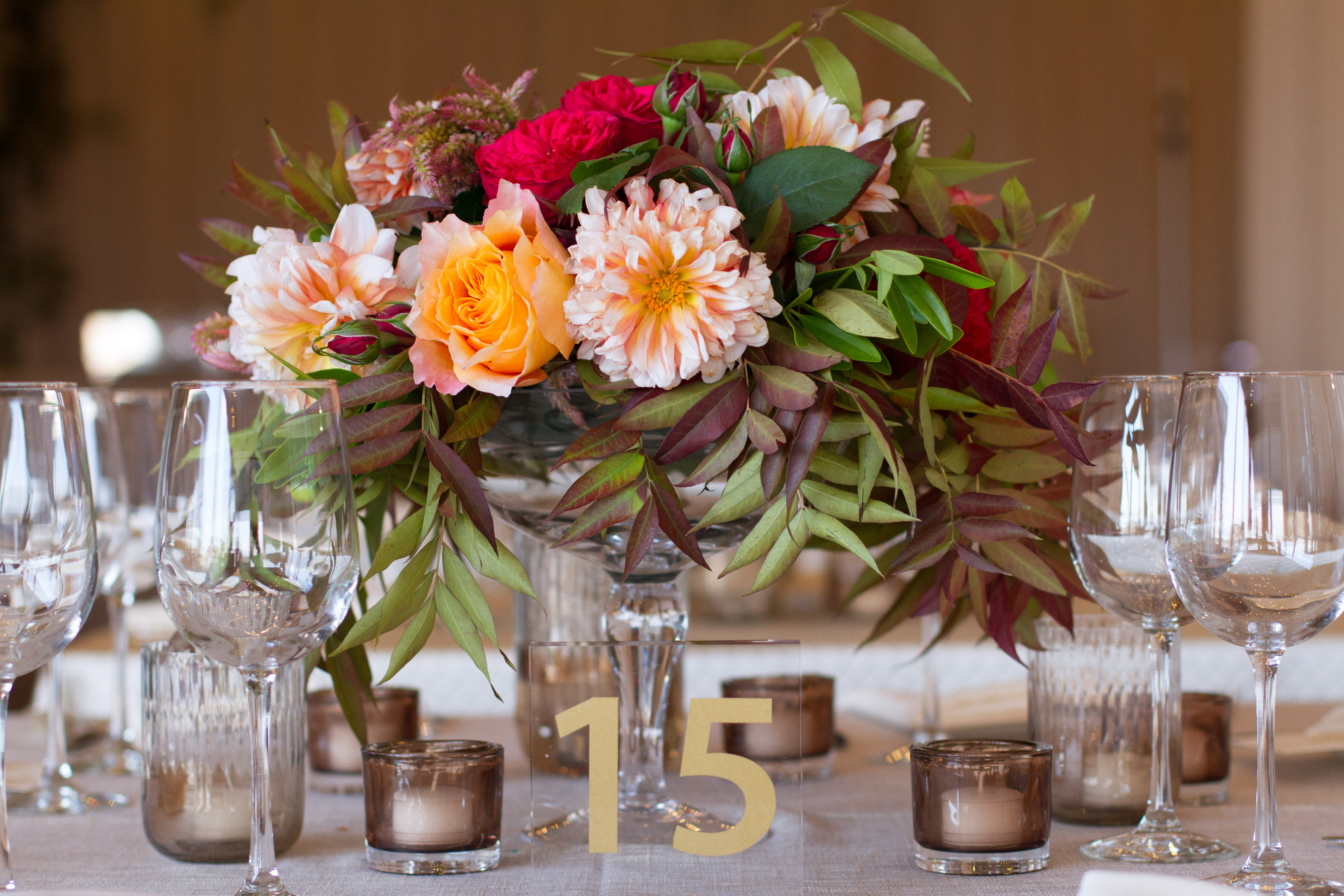 Stunning Fall Wedding Centerpiece from Atlanta's Topher Mack Floral & Events