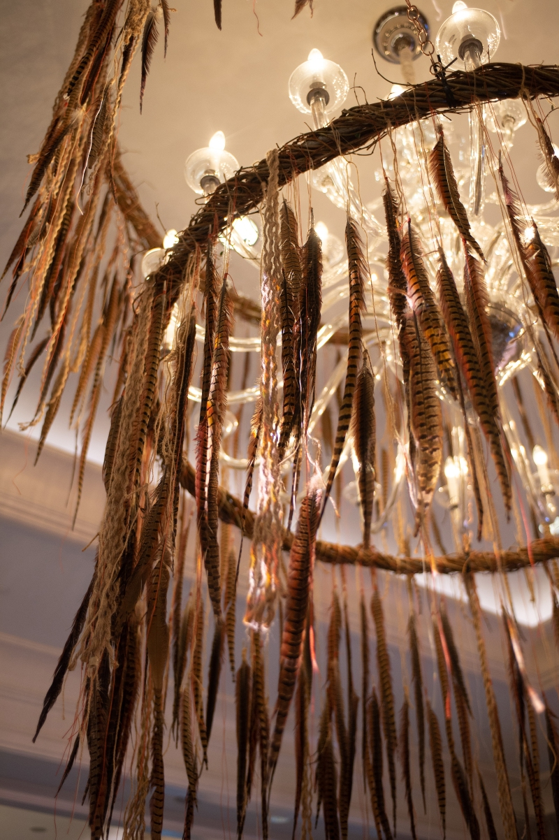 Boho Feather Chandelier from Topher Mack Floral & Events in Atlanta