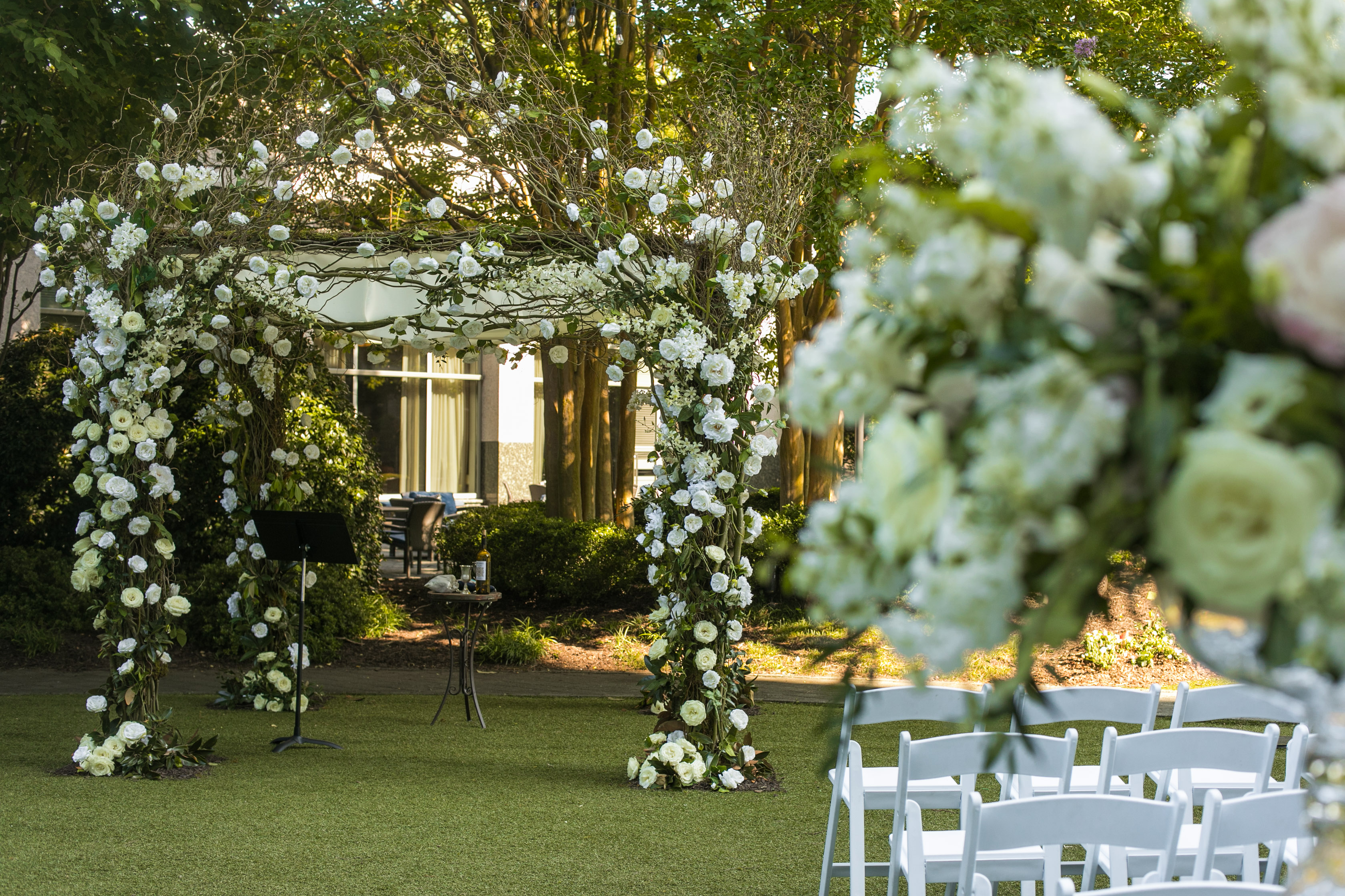 Elegant Outdoor Wedding Ceremony from top Atlanta Wedding Floral & Event Designer, Topher Mack Floral & Events from Chris Macksey