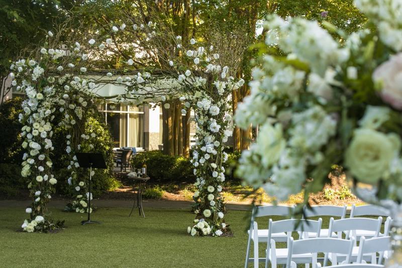 Elegant Outdoor Wedding Ceremony from top Atlanta Wedding Floral & Event Designer, Topher Mack Floral & Events from Chris Macksey