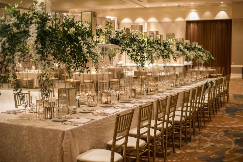 Wedding Head Estate Table from top Atlanta Wedding Floral & Event Designer, Topher Mack Floral & Events from Chris Macksey