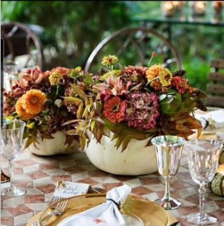 Atlanta Floral Workshop with Fall Pumpkin Centerpieces